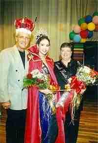 2003 Zwolle Tamale Fiesta King, Queen and First Lady Floyd Giblin, Amanda K. Ezernack, and Priscilla Craig