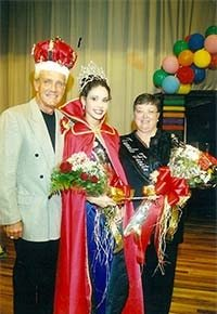 2003 Zwolle Tamale Fiesta King, Queen and First Lady Floyd Giblin, Amanda K. Ezernack, and Priscilla Craig